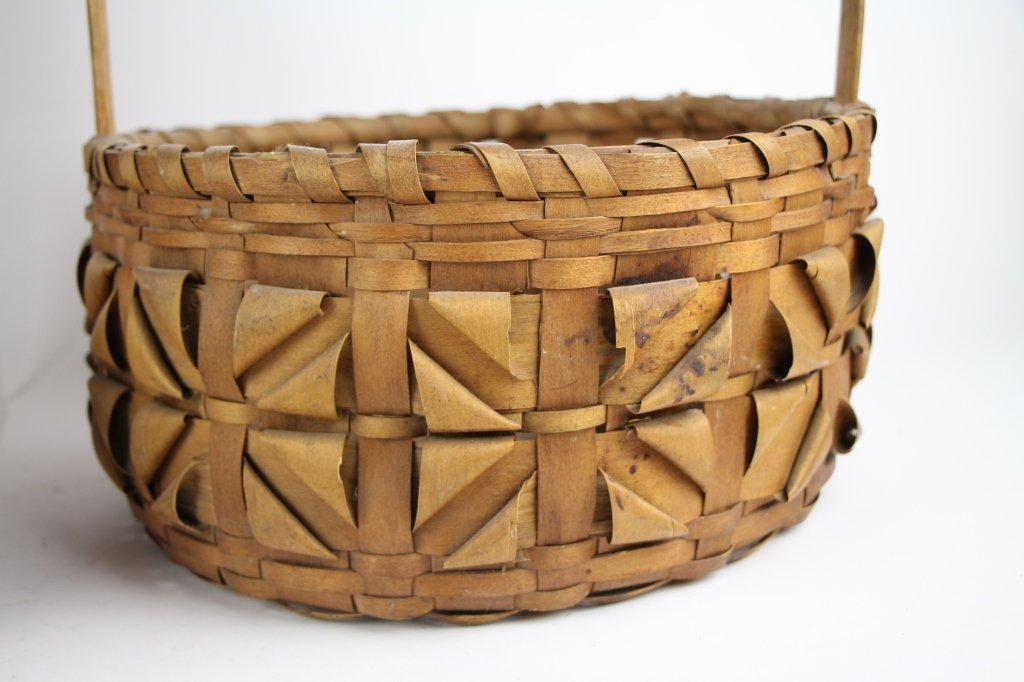 FIVE  NATIVE INDIAN BASKETS - 2