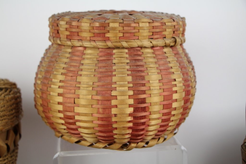 FIVE  NATIVE INDIAN BASKETS - 3