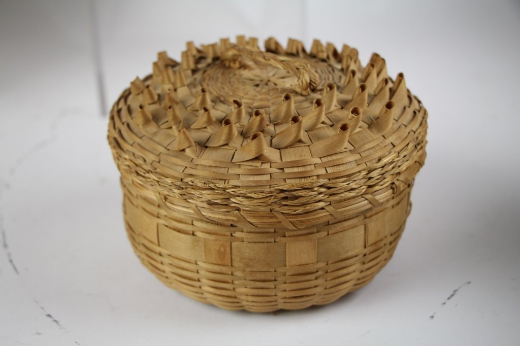 FIVE  NATIVE INDIAN BASKETS - 5