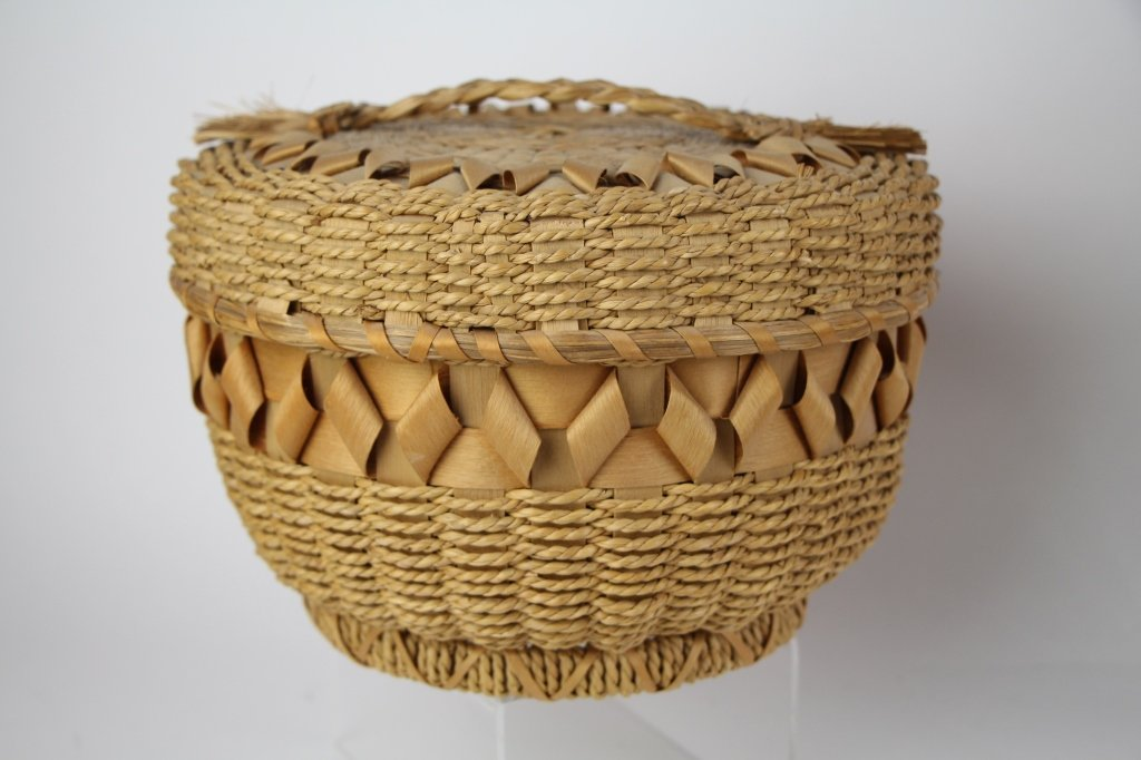 FIVE  NATIVE INDIAN BASKETS - 6