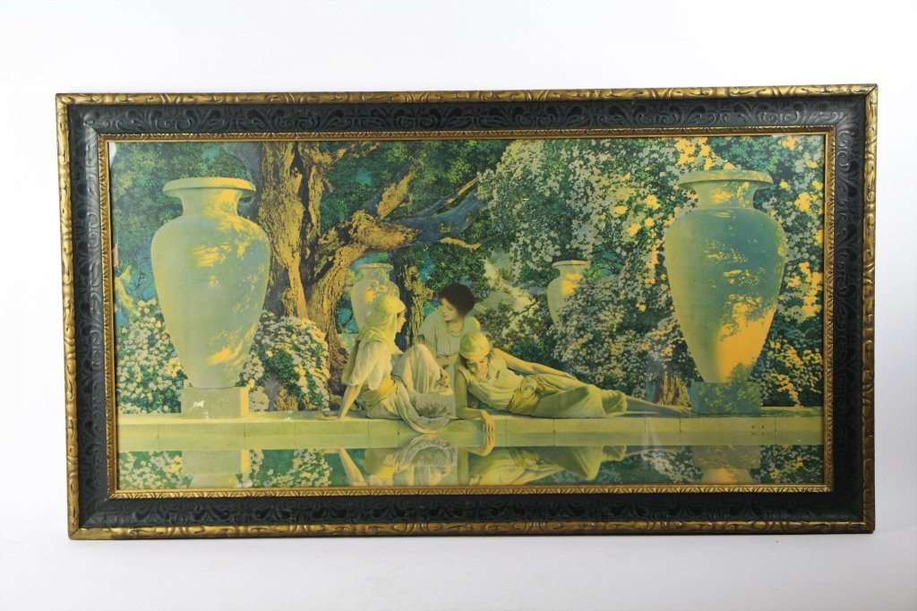 """MAXFIELD PARRISH """"IN THE GARDEN OF ALLAH"""" PRINT"""