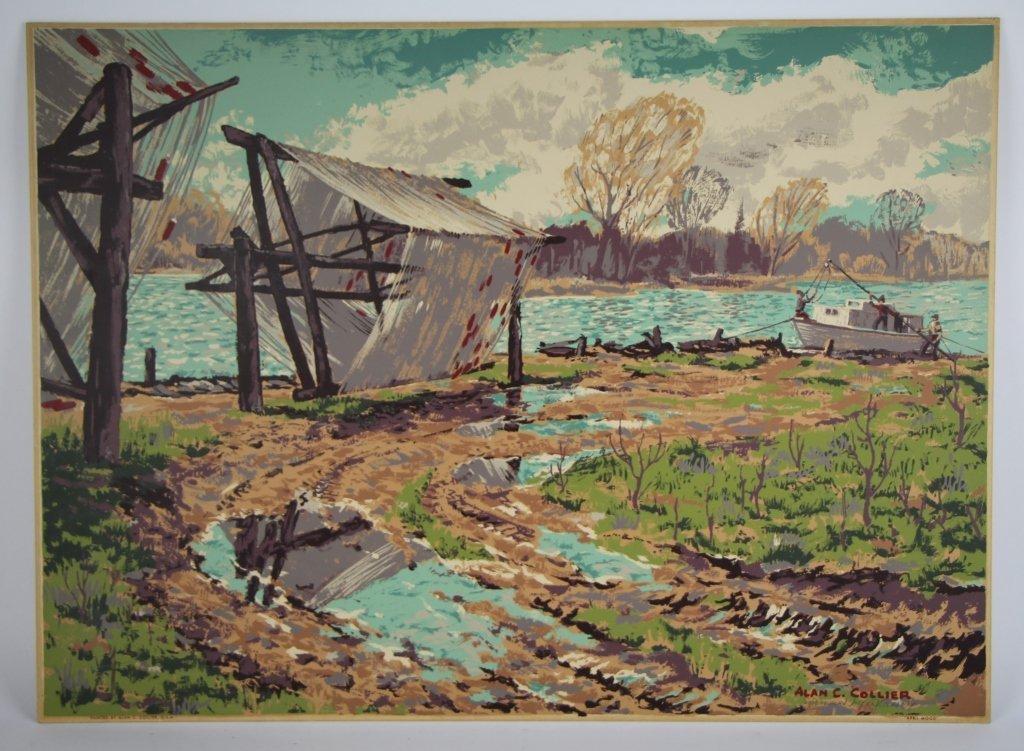 SILK SCREEN - ALLAN C. COLLIER (Can. 1911 - 1990)