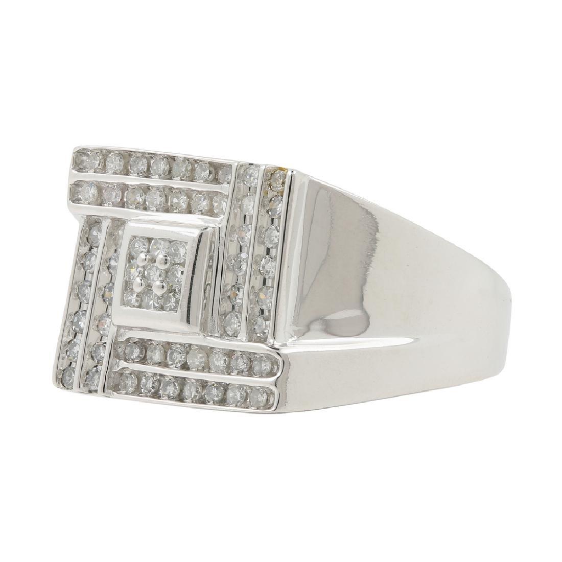 Men's Vintage Classic Estate 10K White Gold Diamond