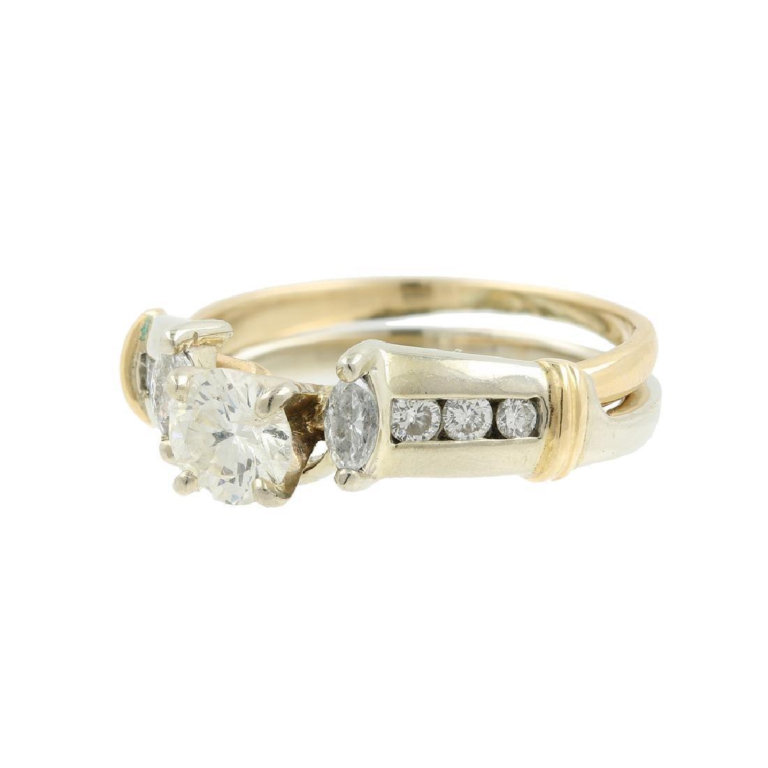Ladies Estate 14K Yellow Gold Diamond Wedding Ring Two