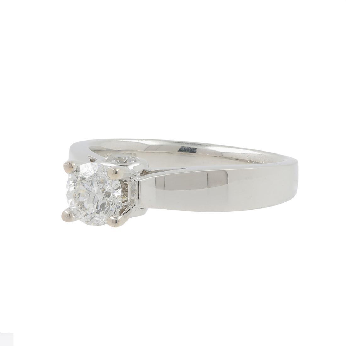 Ladies Modern 14K White Gold Brilliant Round Diamond