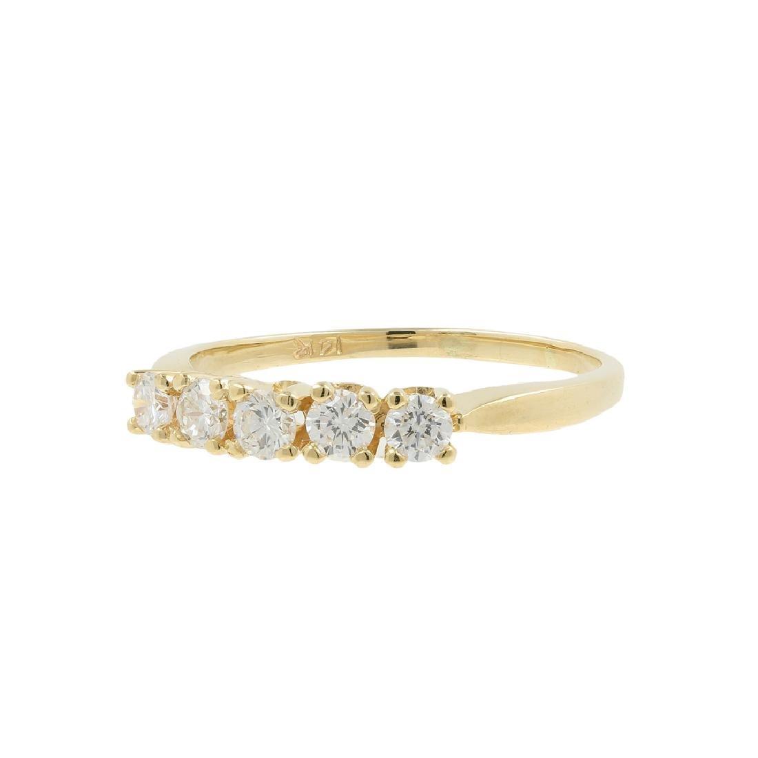 Ladies Classic Estate 14K Yellow Gold Diamond