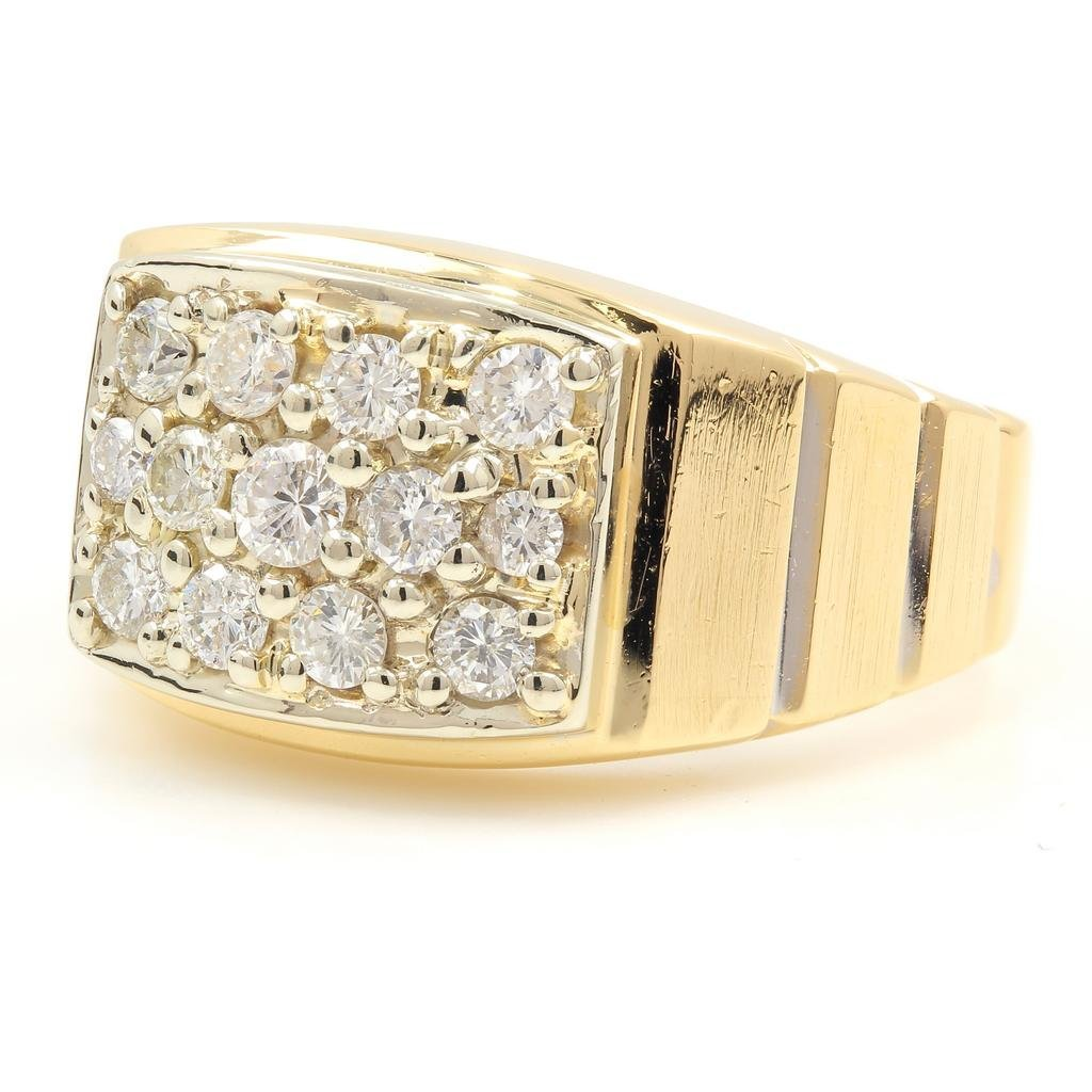 Vintage Classic Estate 14K Yellow Gold Men's Diamond
