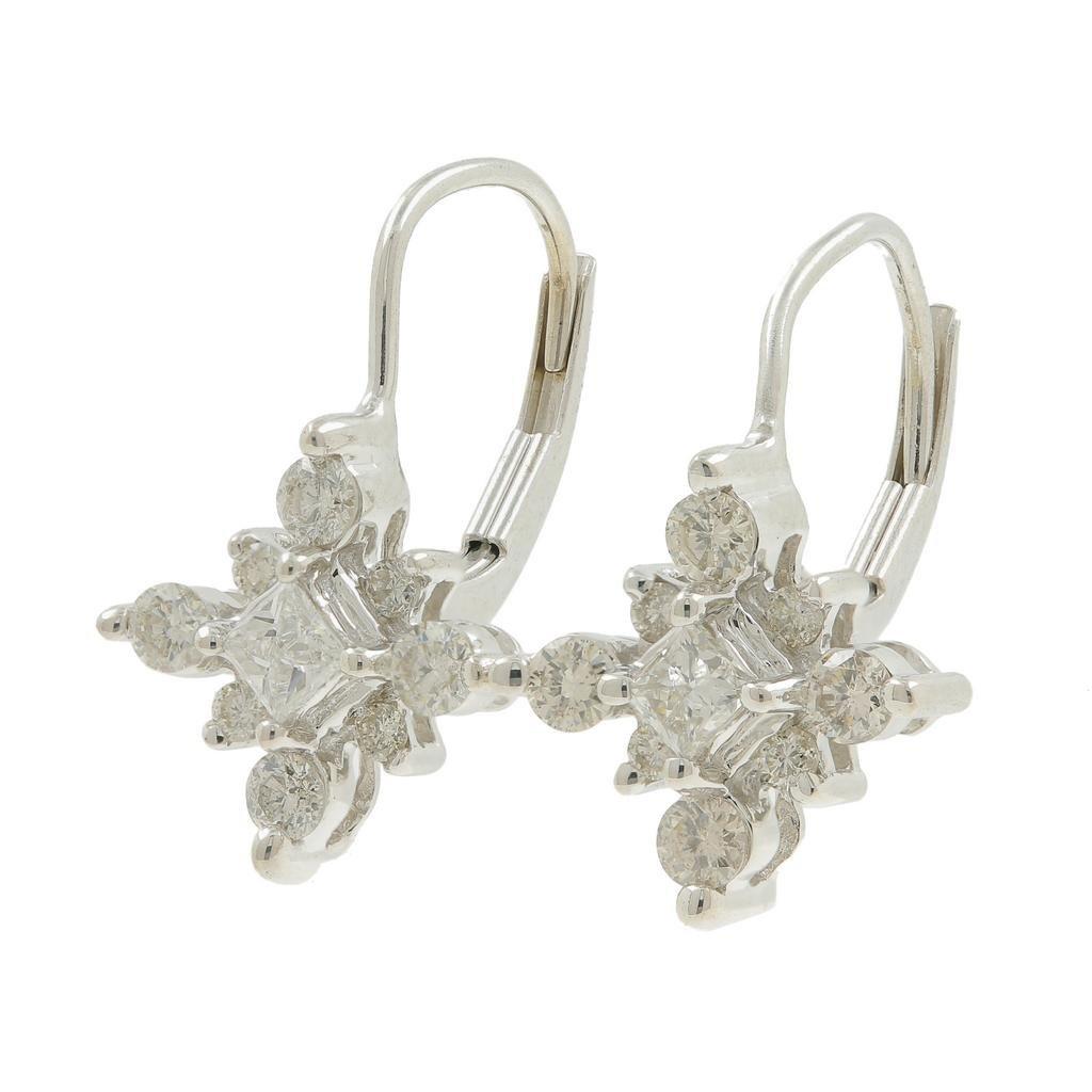 Vintage Estate 14K White Gold Princess Cut Diamond