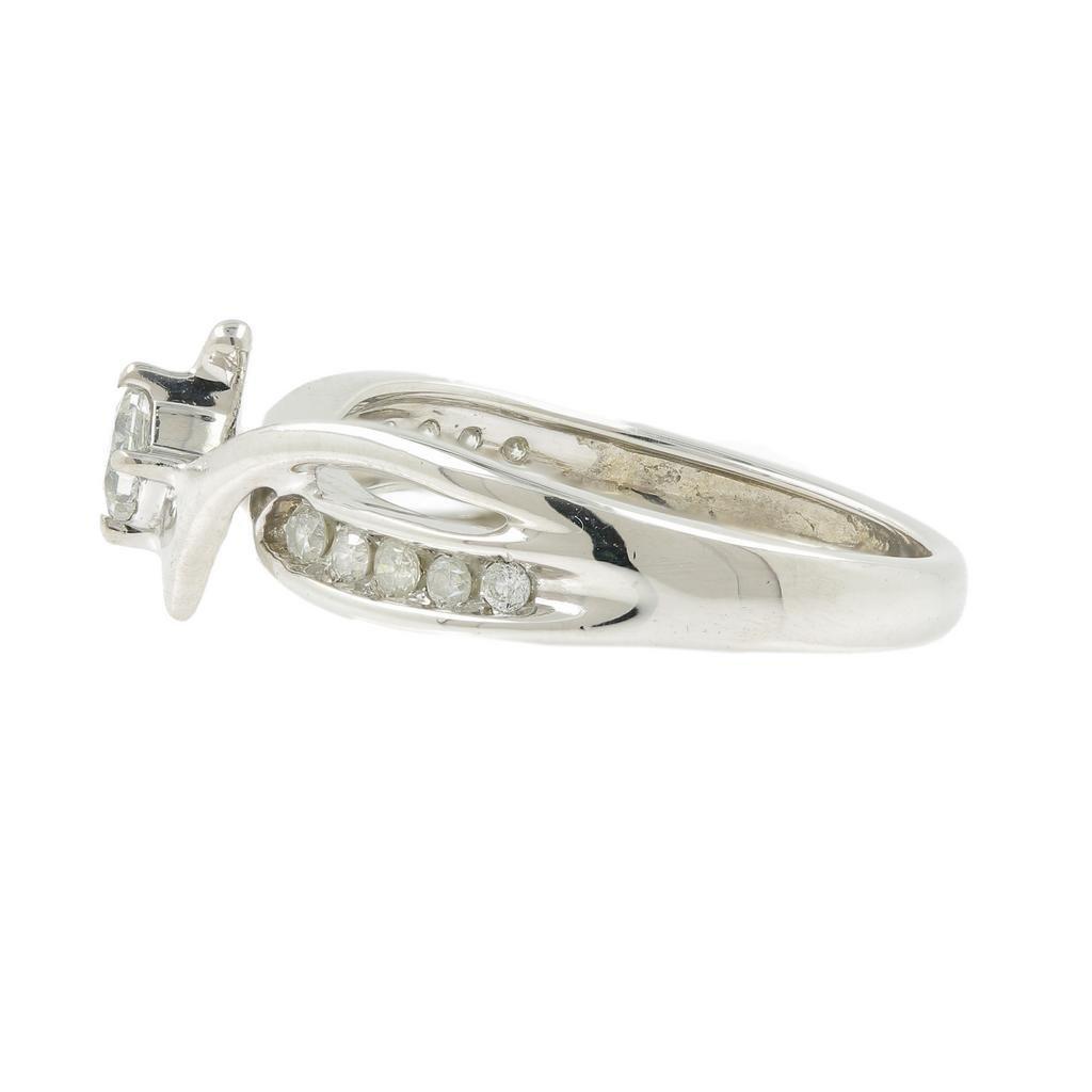 Vintage Classic Estate Ladies 10K White Gold Diamond - 6
