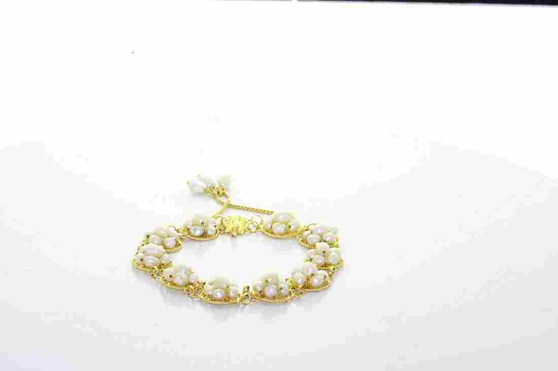 Vintage Estate 18K Yellow Gold White Lustrous Pearl