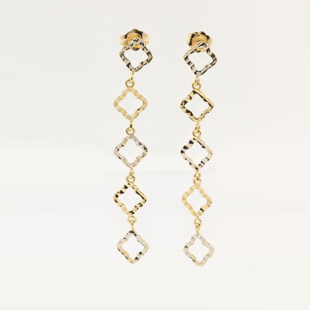 Beautiful Modern Ladies 14K Two Tone Gold Cut Out