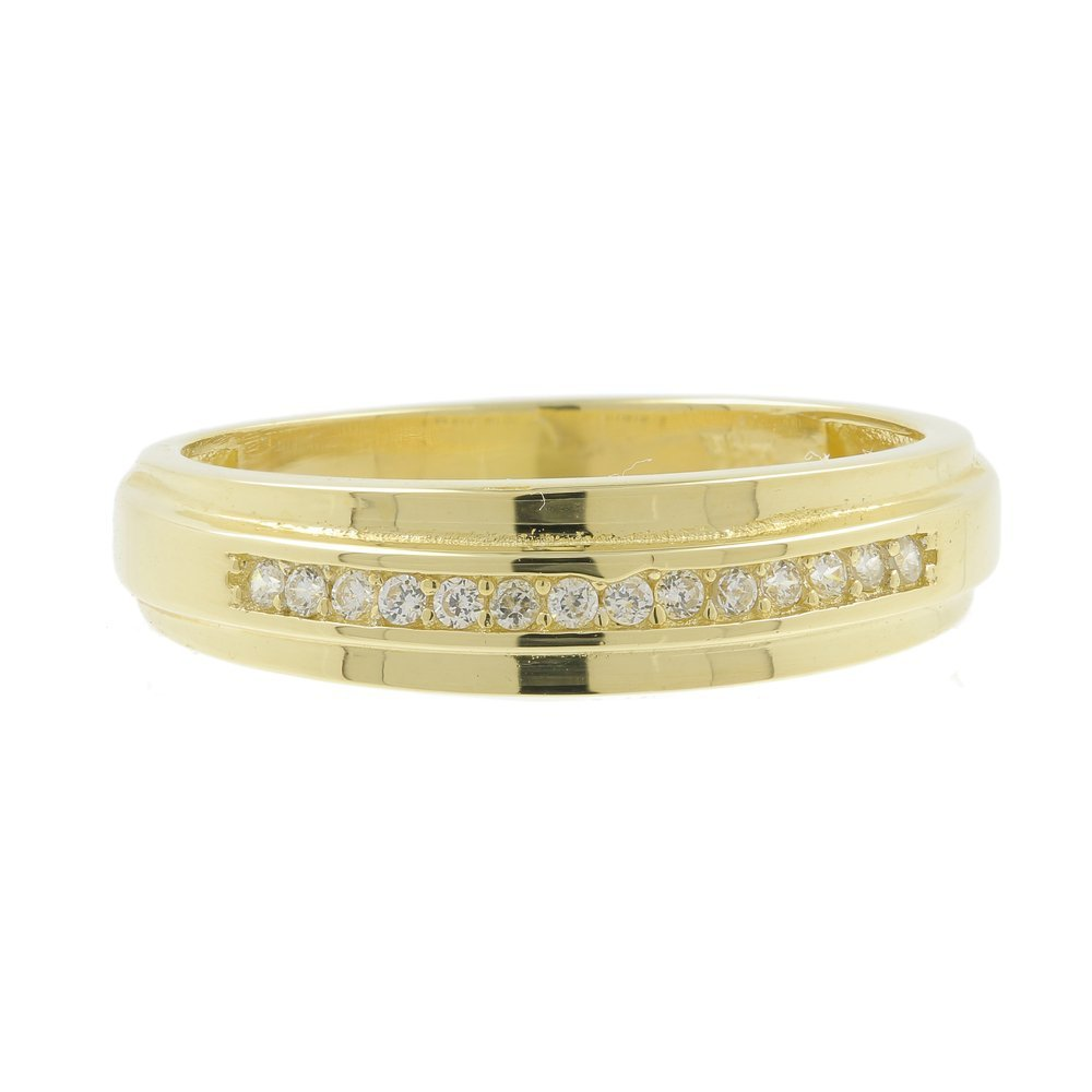 Vintage Classic Estate Men's 14K Yellow Gold Diamond