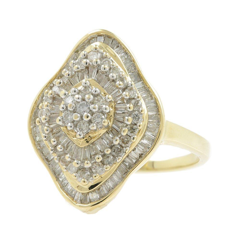 Vintage Classic Estate Ladies 14K Yellow Gold Diamond