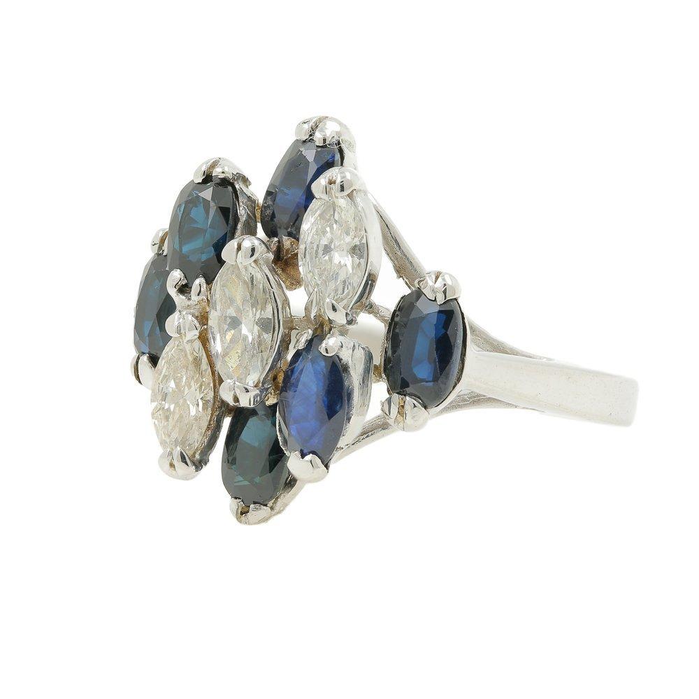 Sparkling Vintage Estate Ladies 14K White Gold Diamond