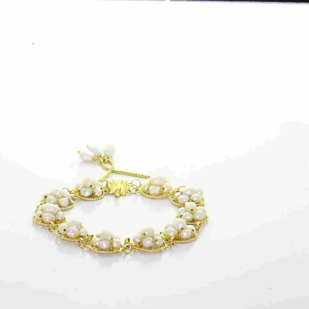 Vintage Estate 18K Yellow Gold White Lustrous Pearl