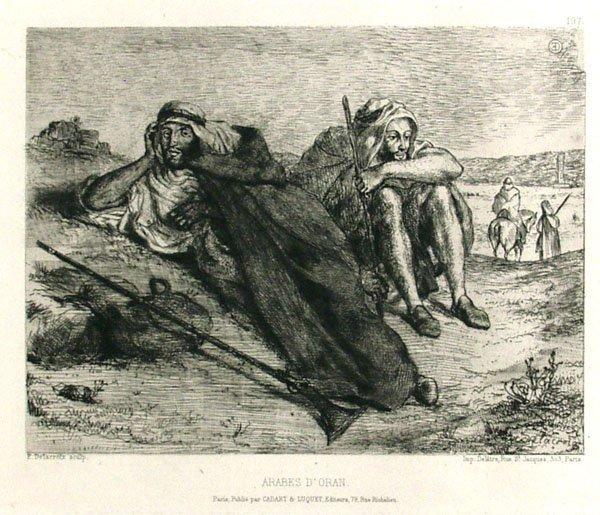 6: EUGENE DELACROIX (French) Etching