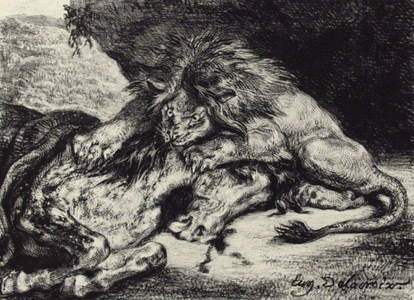 7: EUGENE DELACROIX (French) Lithograph