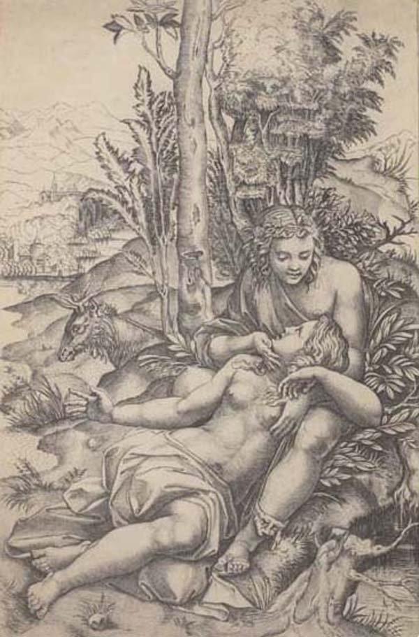 17: MARCANTONIO RAIMONDI (Italian) Engraving