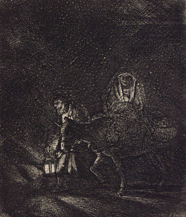 20: REMBRANDT (Dutch) Etching with drypoint