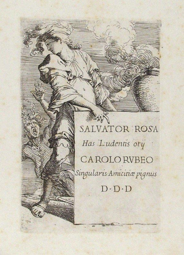 21: SALVATOR ROSA (Italian) Album Etchings Drypoint
