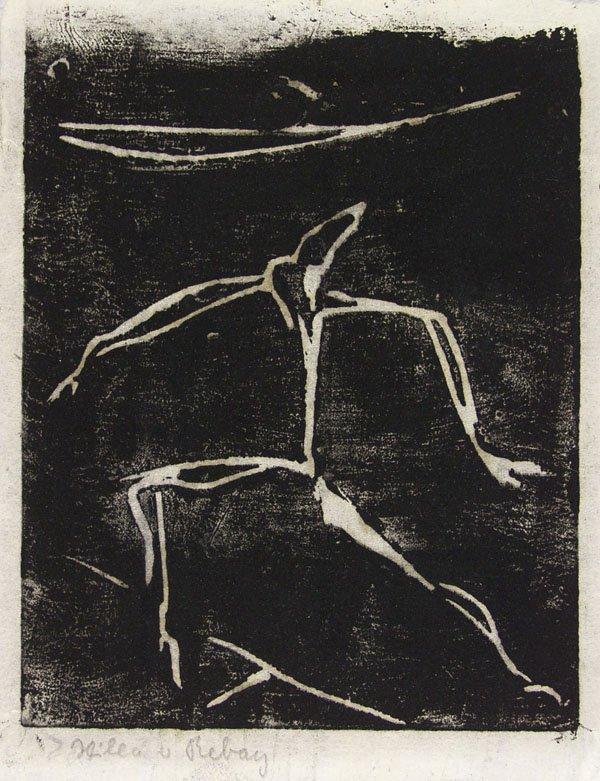 312: HILLA REBAY (American) Lithograph, Dancer