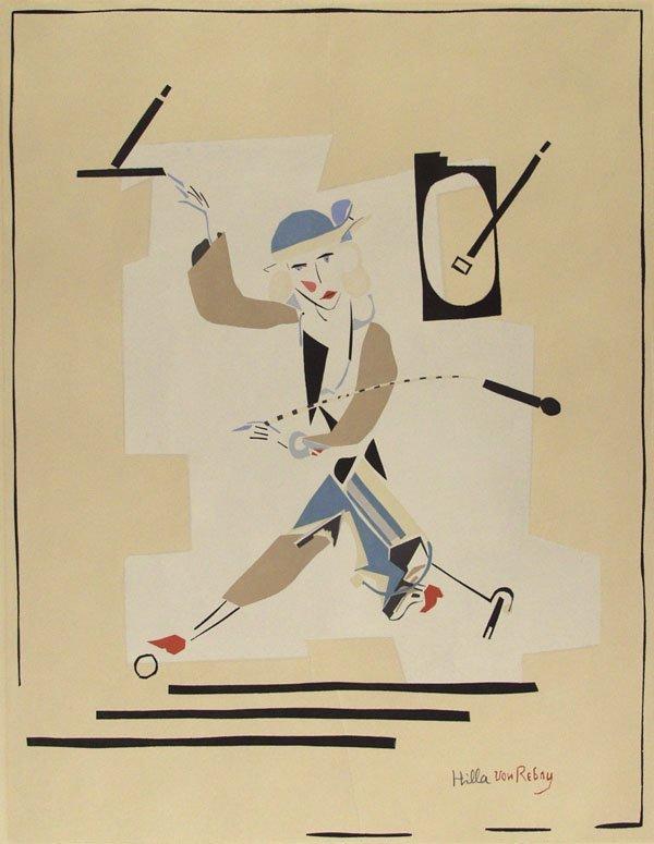 313: HILLA REBAY (American) Color woodcut