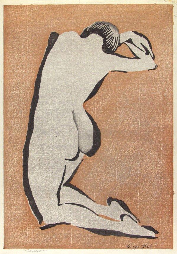 318: LUIGI RIST (American) Color woodcut