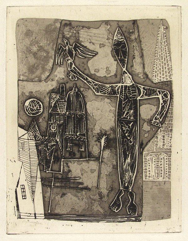 321: NORMAN RUBINGTON (American) Engraving