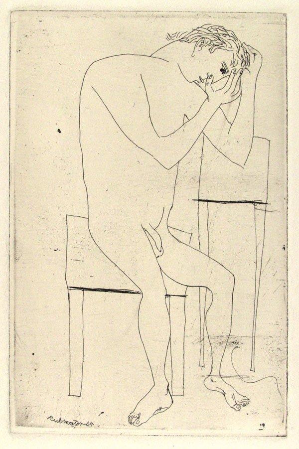 322: NORMAN RUBINGTON (American) Engraving