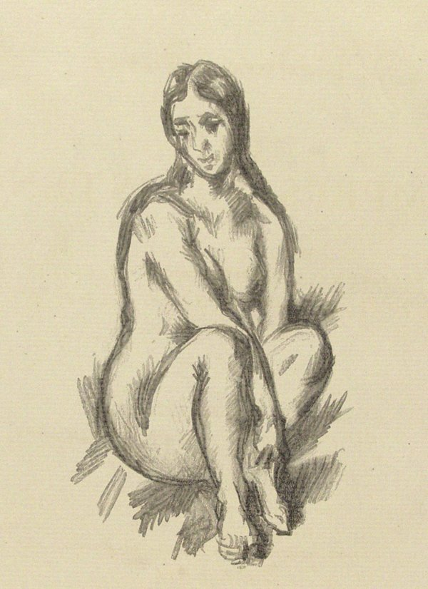 461: PAUL CEZANNE [AFTER] (French) Lithograph Nu Assis