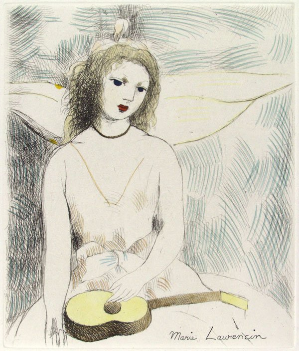 546: MARIE LAURENCIN (French) Color etching
