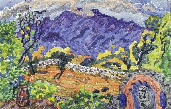7: EMIL ARMIN (American) Watercolor