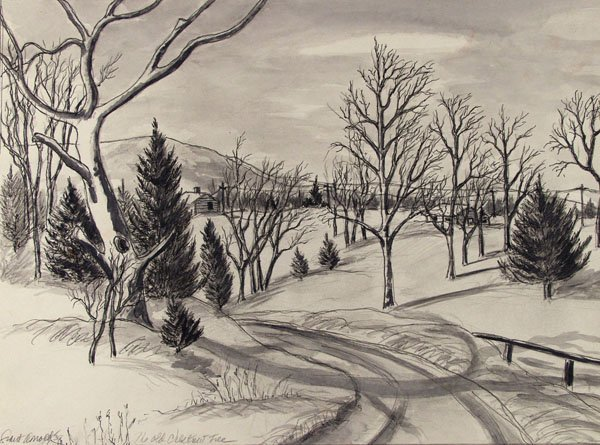 10: GRANT ARNOLD (American) Pencil and ink wash