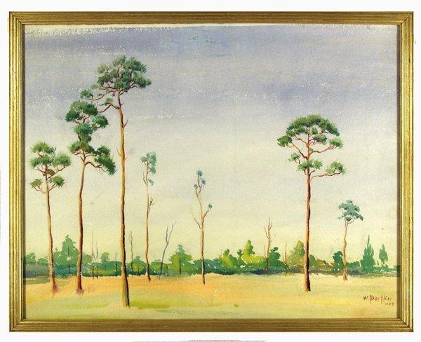 18: WILLIAM J. BARTKO (American) Watercolor