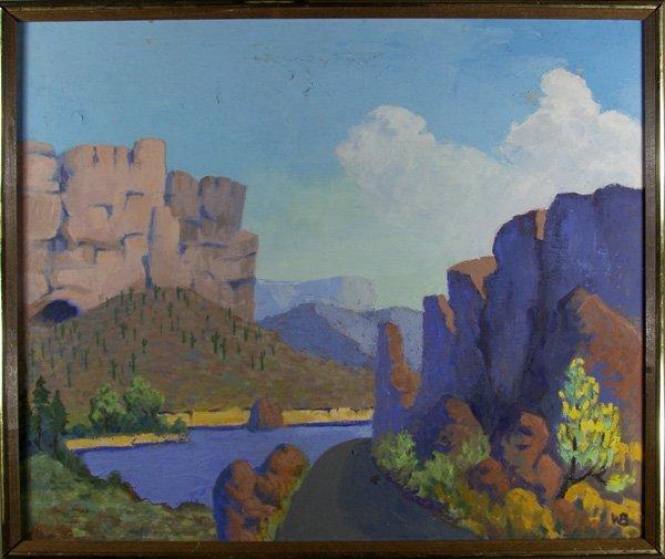 19: WARREN BEACH (American) Oil on canvas
