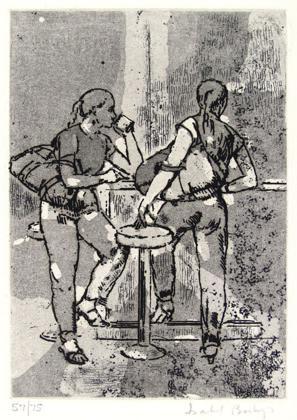 23: ISABEL BISHOP (American) Etching with aquatint