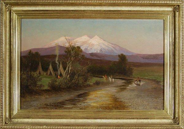 96: EDWARD HILL (American) Oil on canvas
