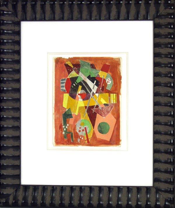161: ROLPH SCARLETT (American) Pencil, gouache crayon