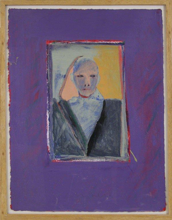 164: FRITZ SCHOLDER (American) Acrylic painting