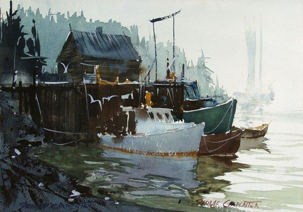 49: GEORGE CARPENTER (American) Watercolor & gouache