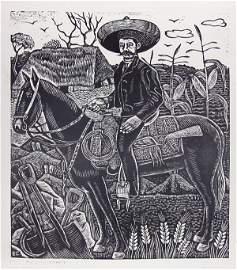 289: ERASTO CORTES JUAREZ (Mexican) Metal relief print