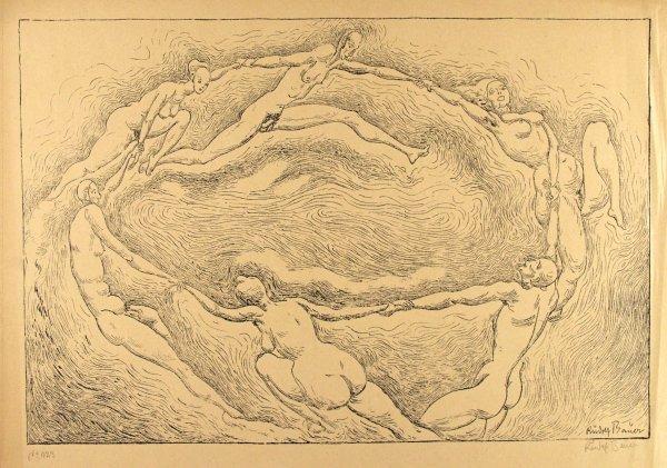 39: RUDOLF BAUER (German) Lithograph