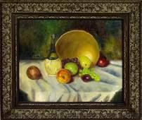 110: LUZ M. JANER (Spanish) Oil on canvas on board