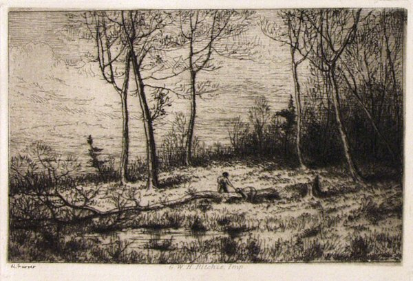 84: HENRY FARRER (American) Etching