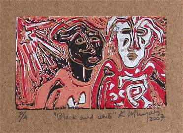 211: KARIMA MUYAES (Mexican) Color linocut