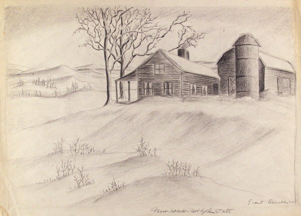 19: GRANT ARNOLD (American) Pencil on paper