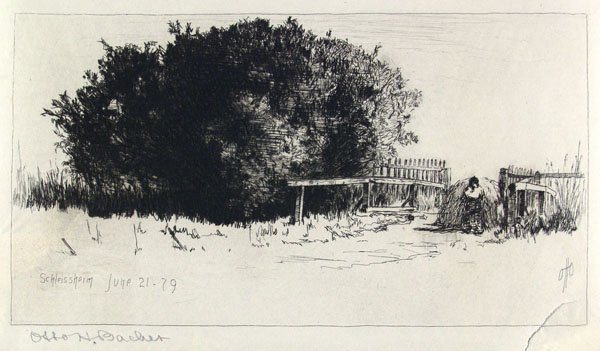 23: OTTO HENRY BACHER (American) Etching