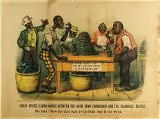 1153: CURRIER & IVES (American) Hand-colored lithograph