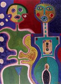 1361: KARIMA MUYAES (Mexican) Oil on paper