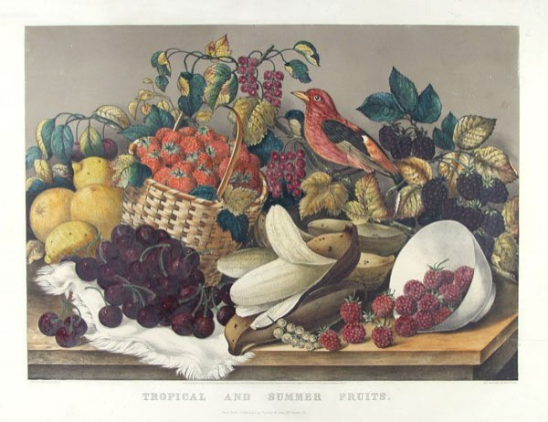 10: CURRIER & IVES (American) Hand-colored lithograph